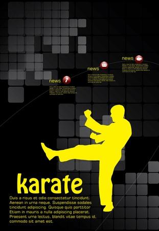 tae: Cartel de Karate