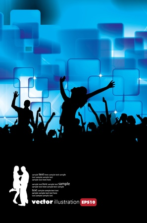 Party People Background Stock Vector - 9744624
