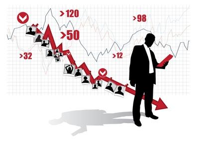 listeners: Businessman Illustration