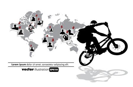 one wheel bike: BMX poster