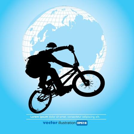 brave of sport: Vector illustration of a biker