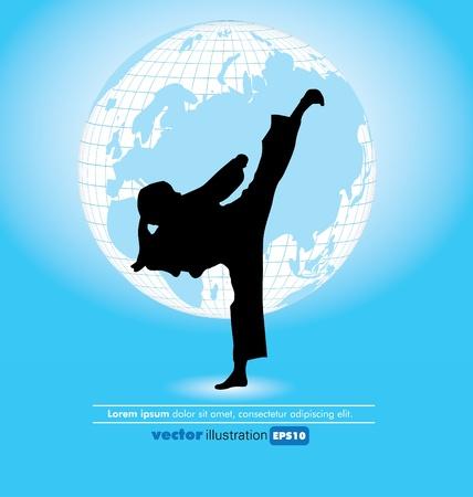 sidekick: Karate poster  Illustration
