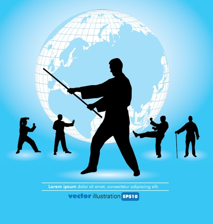 combative: Karate poster  Illustration