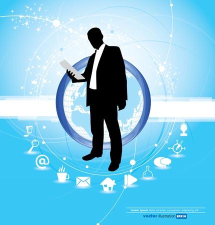 portal: Web social concept