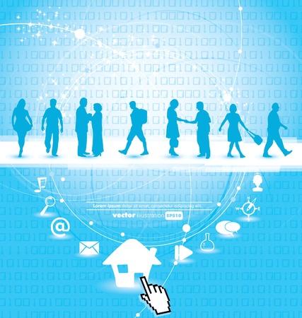 listeners: Web concept Illustration
