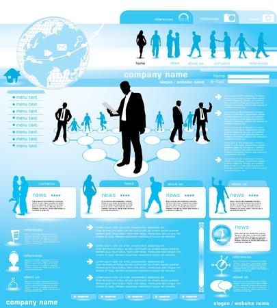 Social de fond conception de sites Web, illustration vectorielle