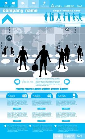 Fondo para sitios web social diseño, ilustración vectorial