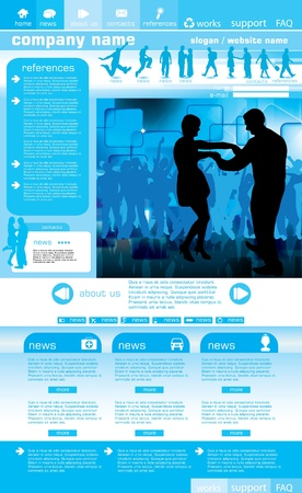 Social website design background, vector illustration Stock Vector - 9817182