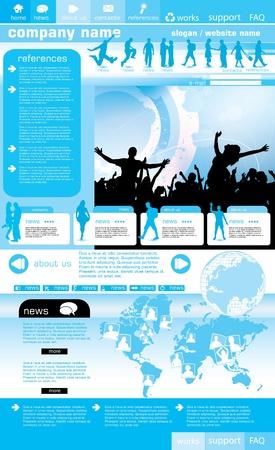 Social website design background, vector illustration Vector