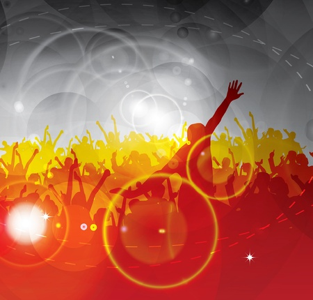 People dancing background party Stock Vector - 9915393