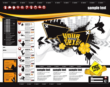 web site design template: Web Site Page Template