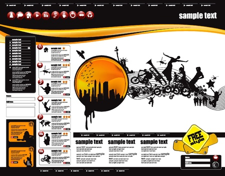 Web Site Page Template Stock Vector - 9975659