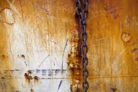 enchain: rusty old steel chain