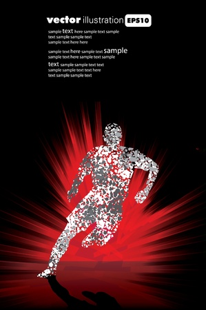 marathon runner: Sport  illustration Illustration
