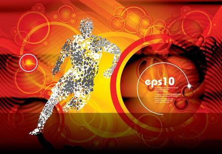 sprinting: Sport illustration