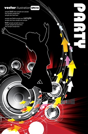 Fond événement musical. Vector eps10 illustration.