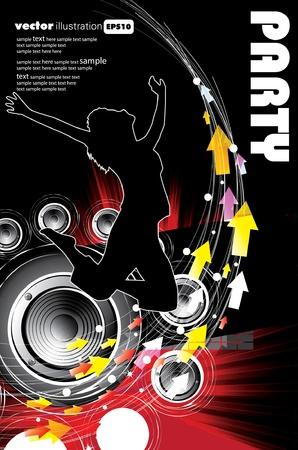 Fondo de evento de la música. Ilustración eps10 de vector.