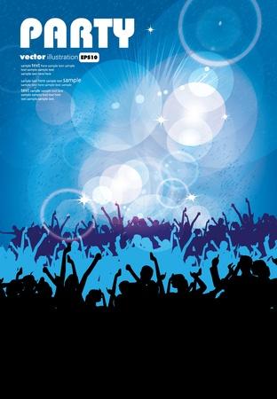 nightlife: Music event background.