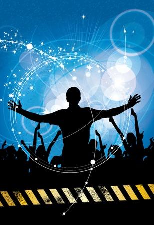 Urban music background Stock Vector - 10414991