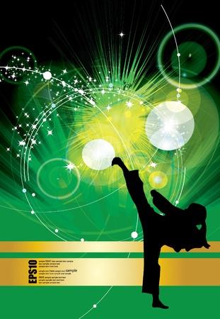 individual sports: Karate warrior Illustration