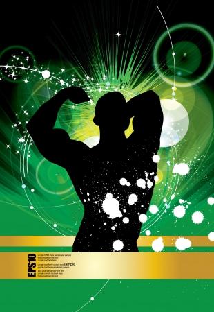 bodybuilding: Bodybuilding illustration
