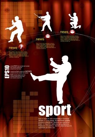 Karate warrior  Stock Vector - 10462729