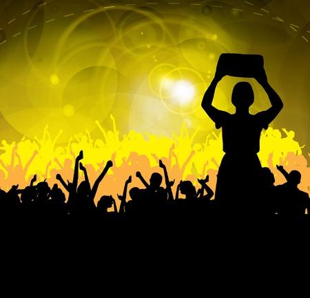 Music event background. Vector eps10 illustration.  Ilustracja