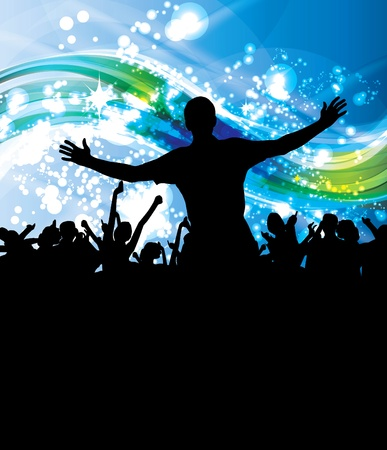 People dancing background party Stock Vector - 10632664