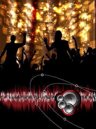 clubbing: Music event background. Vector eps10 illustration.  Illustration
