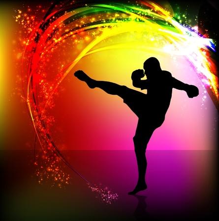 ninja: Illustration des Karate Illustration
