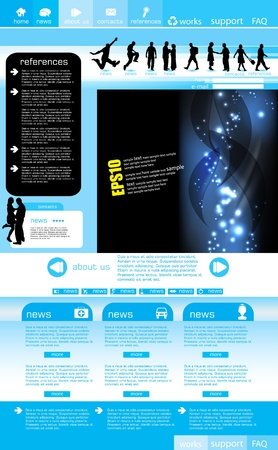 Web site layout Vector
