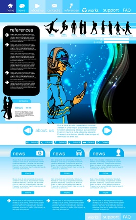 Web site layout Stock Vector - 10709543