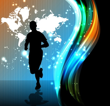 runner: Sport illustrazione