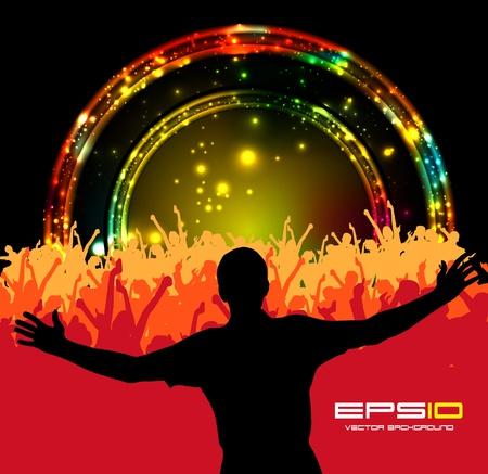 fiestas discoteca: Música de fondo del evento. Vector eps10 ilustración.
