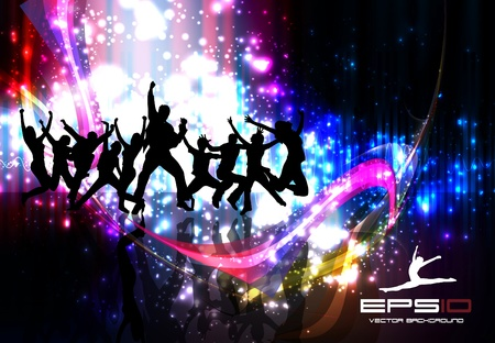 dance music: Muziek achtergrond Stock Illustratie