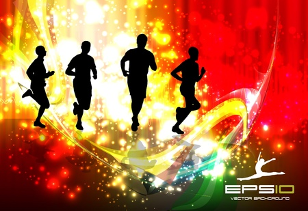 running silhouette: Sport illustration
