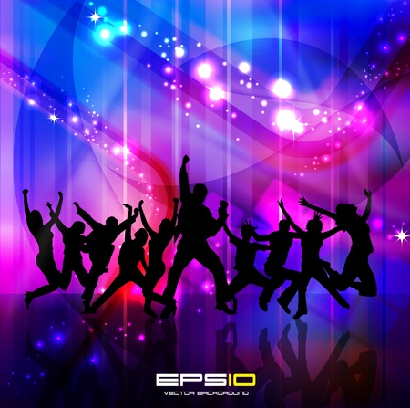 dance club: Music event background.