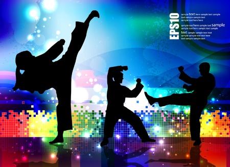 Sports. Karate illustartion Stock Vector - 11914386