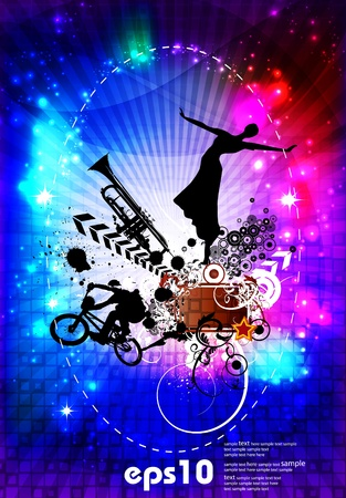 Music event background. Stock Vector - 11440286