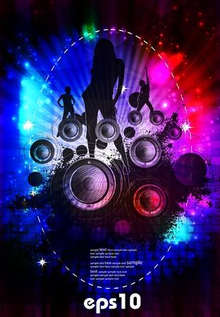 nightclub crowd: Music event background.