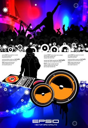 party club: Music event illustration