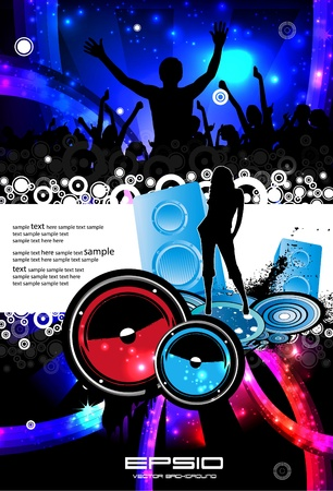 Music event illustration Stock Vector - 11040045