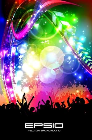 concerts: Dancing people.