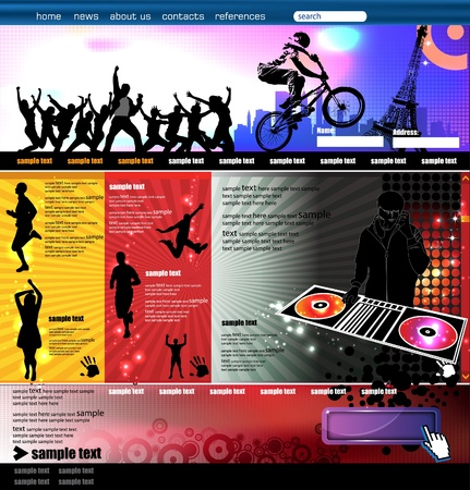 web pages: Web Site Page Template