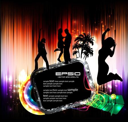 studio backdrop: Music event illustration
