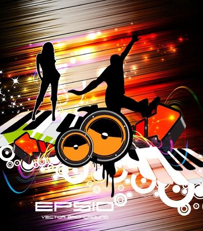 Disco party poster. Stock Vector - 11040033