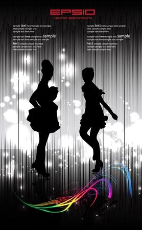 Disco women illustration Vector
