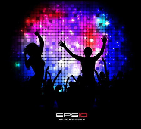 EPS10 party people vector background Stock Vector - 10909887