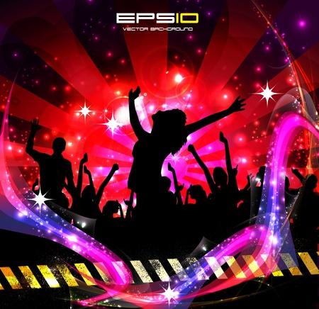 dancing girl: Music background party