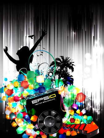 Music background party Vector